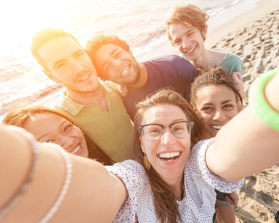 Selfie fototip groep