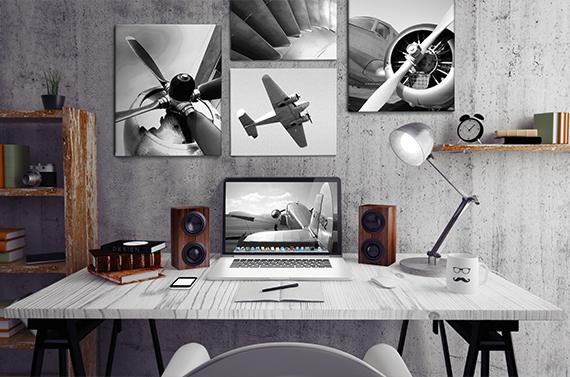 Collage van vliegtuigen