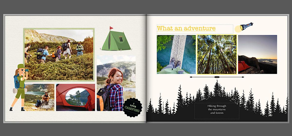 Vakantie fotoboek clipart ideeën