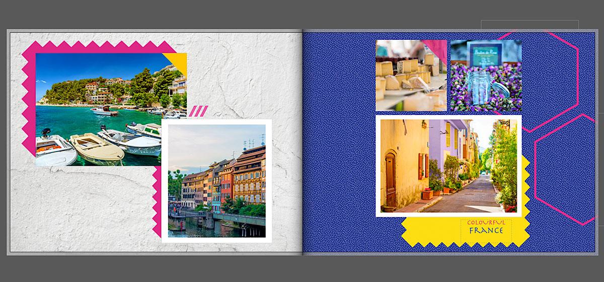 Vakantie fotoboek bijpassende kleuren