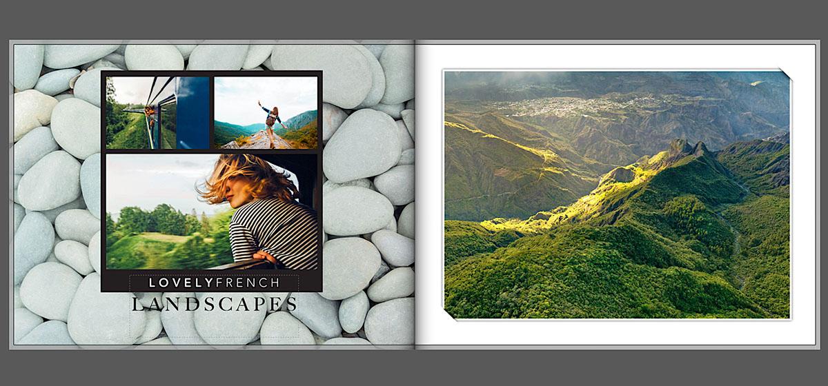 Vakantie fotoboek landschapsfoto's