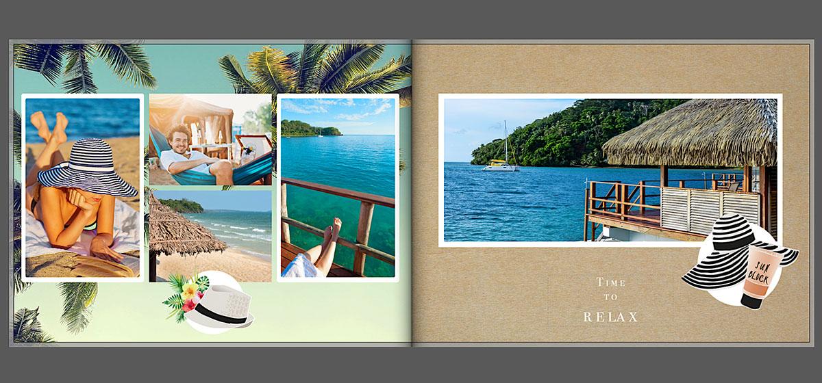 Vakantie fotoboek lay out inspiratie