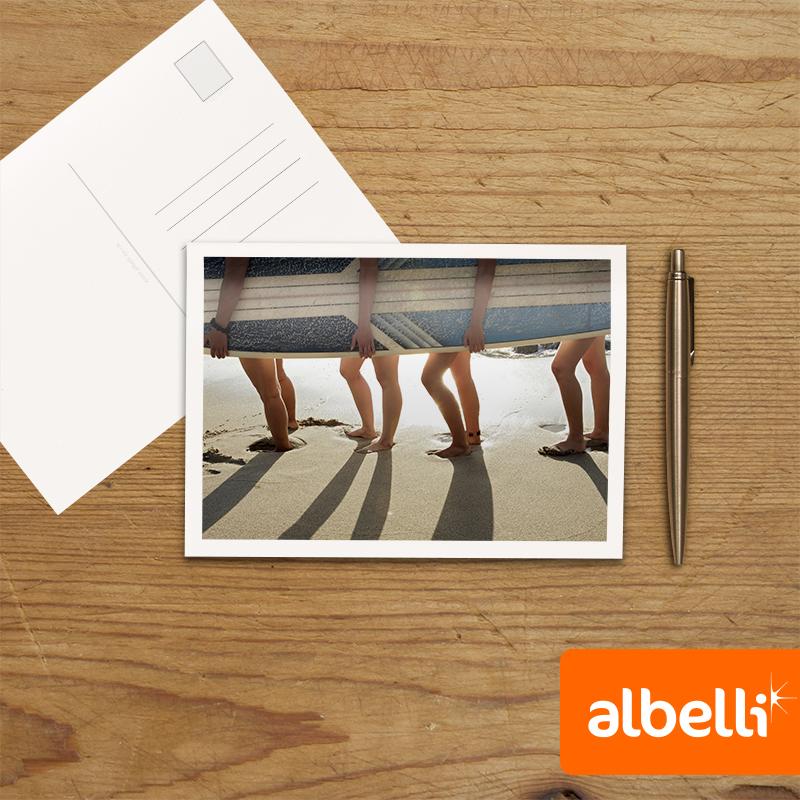 Foto Wenskaarten Liggend Dubbel (18x13 cm) set van 10 stuks.